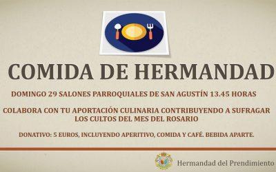 El próximo domingo Comida de Hermandad en San Agustín