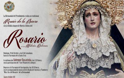 Este domingo Rosario de la Aurora hacia la Santa Cruz
