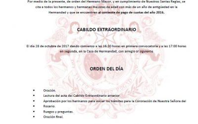 Mañana Cabildo Extraordinario para consulta del inicio de trámites de la Coronación