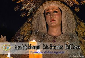 Misa Mensual y Comida de Hermandad @ San Agustín y Casa de Hermandad