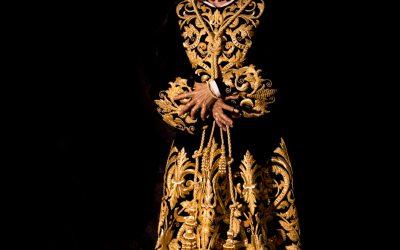 Nuestro Señor en su Prendimiento ya luce su nueva túnica bordada a la espera de su Traslado Solemne