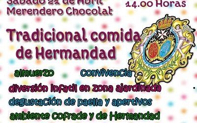 Este sábado tradicional comida de Hermandad en Merendero Chocolat