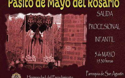 Hoy Procesión Infantil con el Pasito del Rosario y Cruz de Mayo en calle la Cruz