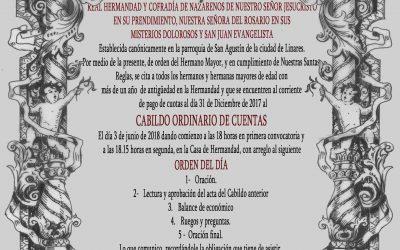 Convocado Cabildo General Ordinario de Cuentas para el 9 de junio
