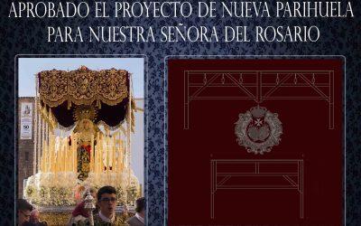 Aprobado el proyecto de nueva parihuela para el Paso de Palio de la Virgen del Rosario