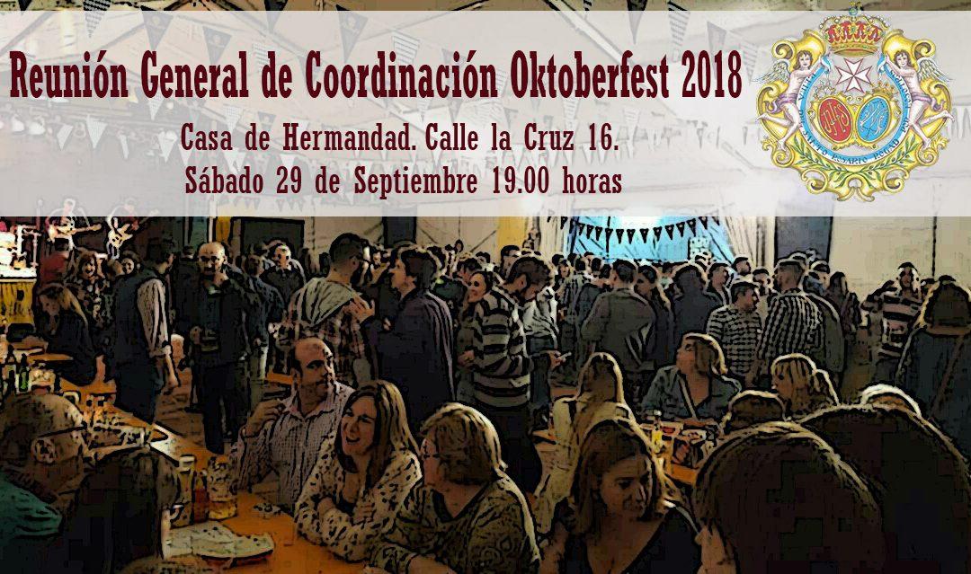 Apertura del Curso Cofrade, Reunión de la Oktoberfest y apertura del Ambigú.