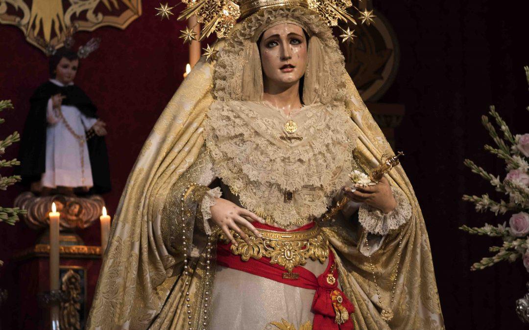 Hoy es la Festividad de la Virgen del Rosario.Orden de Cultos.