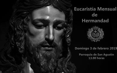 Eucaristía Mensual de Hermandad y Comida este próximo domingo