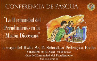 Hoy Conferencia de Formación en la Casa de Hermandad