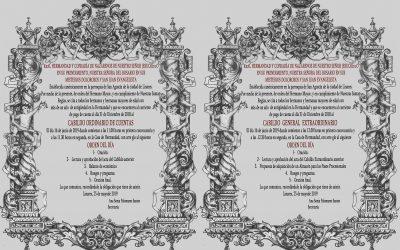 El próximo domingo Cabildo de Cuentas y Cabildo Extraordinario para consulta de adquisición de un almacén