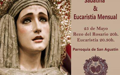 Misa Mensual y Sabatina el próximo sábado 25 de mayo. Recibimiento de la Virgen de la Cabeza.