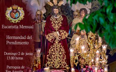 Eucaristía mensual y comida de Hermandad el próximo domingo 2 de junio