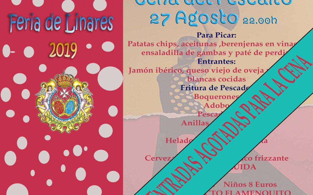 """Agotadas las entradas para la """"Cena del Pescaíto"""" que abrirá la Feria en la Casa de Hermandad"""