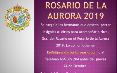 Participación de los hermanos en el Rosario de la Aurora 2019