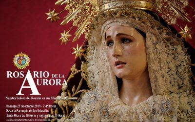 Rosario de la Aurora,Eucaristía, regreso al templo y comida de Hermandad el día de mañana
