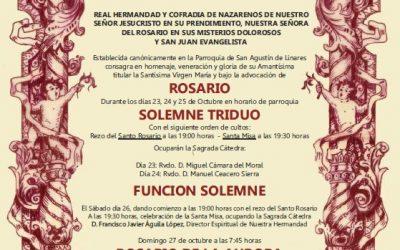 Comienzan los cultos de Octubre a Ntra. Sra. del Rosario en sus Misterios Dolorosos
