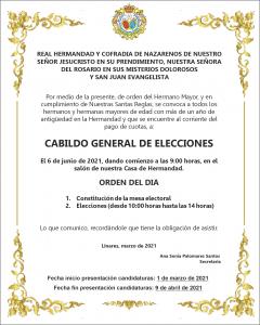 Cabildo General de Elecciones @ Casa de Hermandad Prendimiento y Rosario