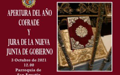 Inicio del Curso Cofrade con Eucaristía y Jura Cargos de la nueva Junta